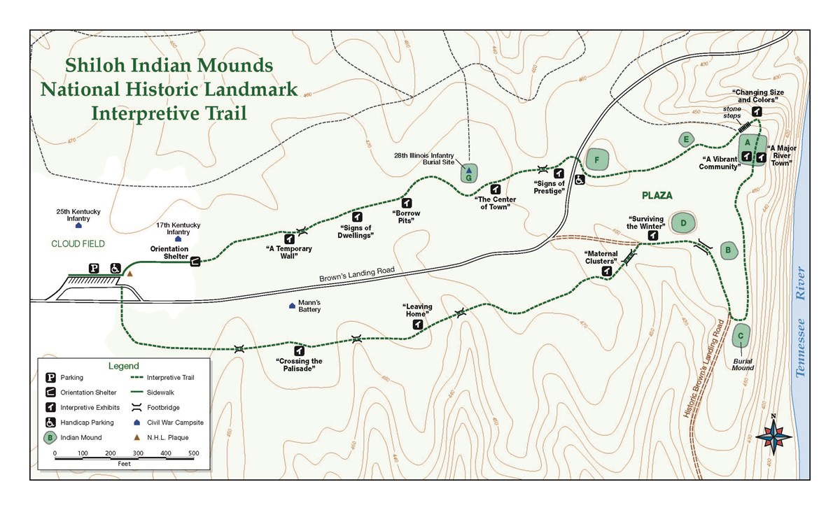 Map of the Indian Mounds trail