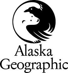 Polar bear and raven emblem above text reading Alaska Geographic.