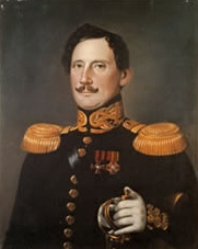 A painted portrait of Arvid Adolf Etholen.