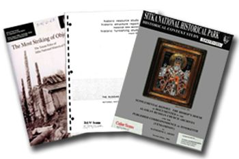 Photo of the cover pages of three publications.