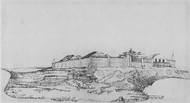 A drawing of Fort Saint Michael.