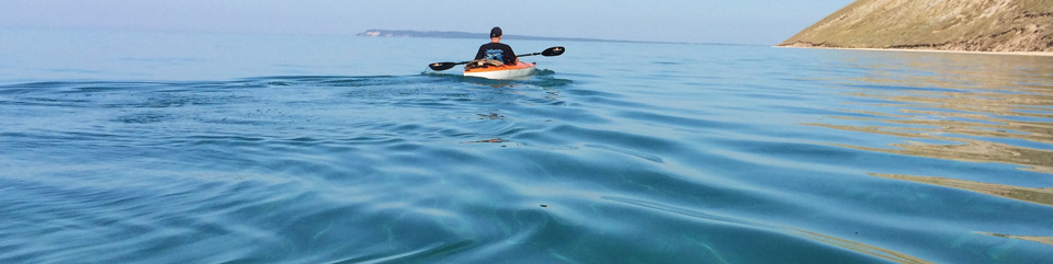 Kayaking Lake Michigan