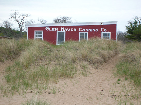 Glen Haven Cannery at Sleeping Bear Dunes National Lakeshore.  Photo courtesy of National Park Service.