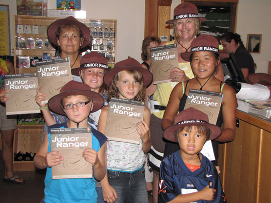 New Junior Rangers honored at Sleeping Bear Dunes National Lakeshore. Photo courtesy of National Park Service.
