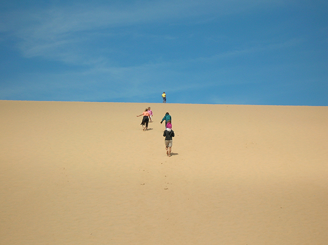 Running up the Dune Climb