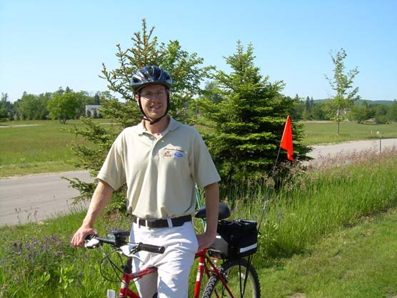 Ford Transportation Interpreter, Ryan Locke, will be offering six guided bike tours per week on the backroads of Sleeping Bear Dunes National Lakeshore this summer.