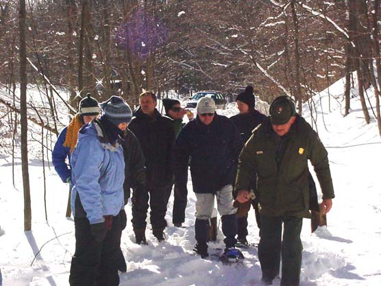 Ranger-led Snowshoe Hike at Sleeping Bear Dunes National Lakeshore.