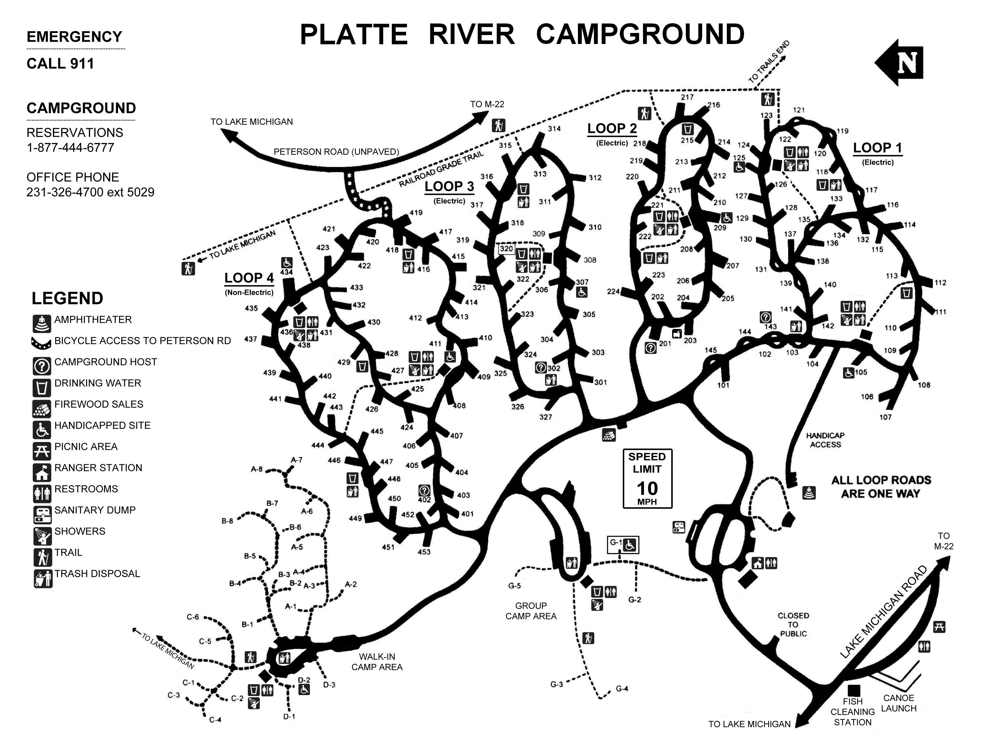 Platte River Campground - Sleeping Bear Dunes National