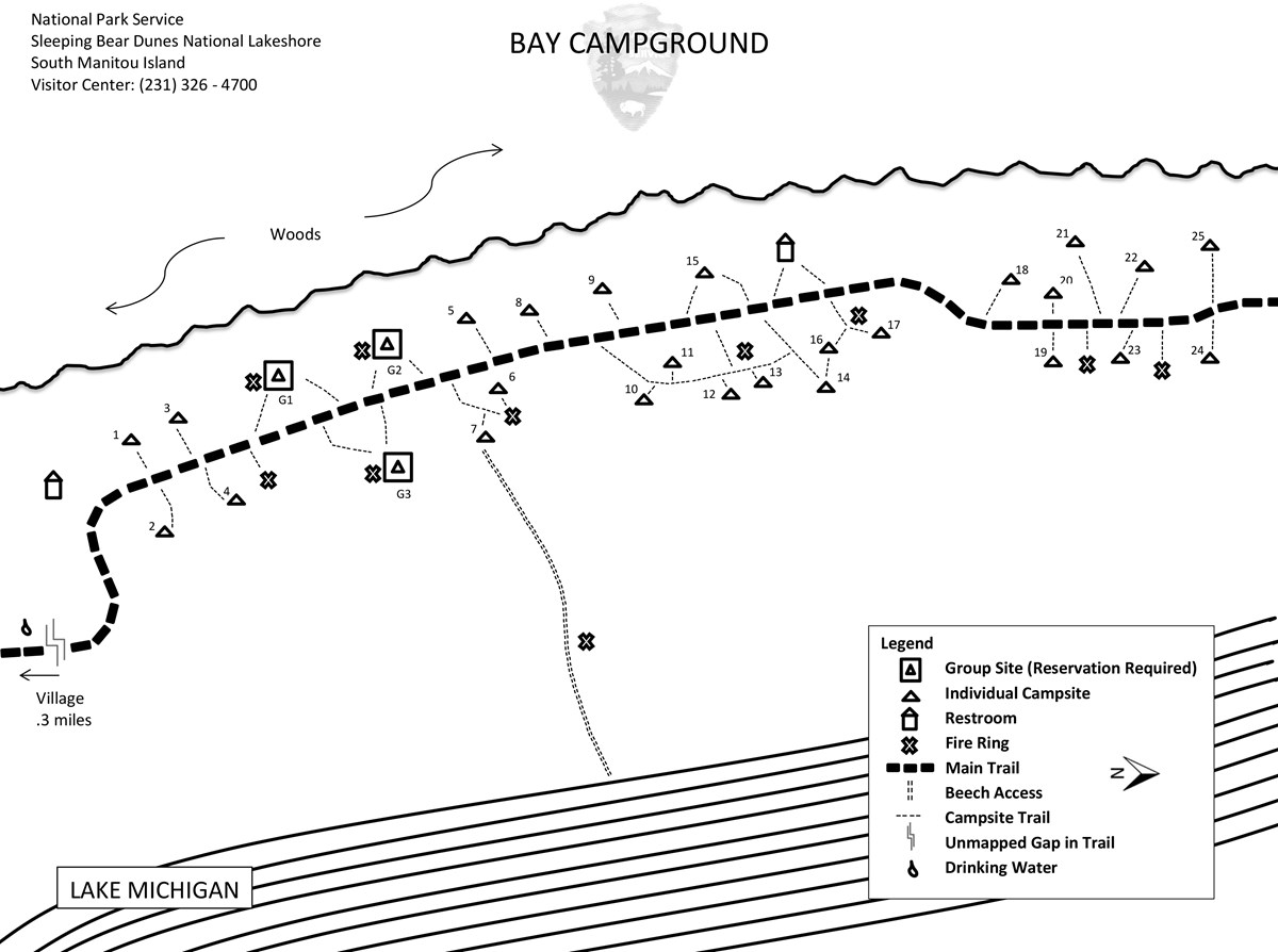 Bay campground map