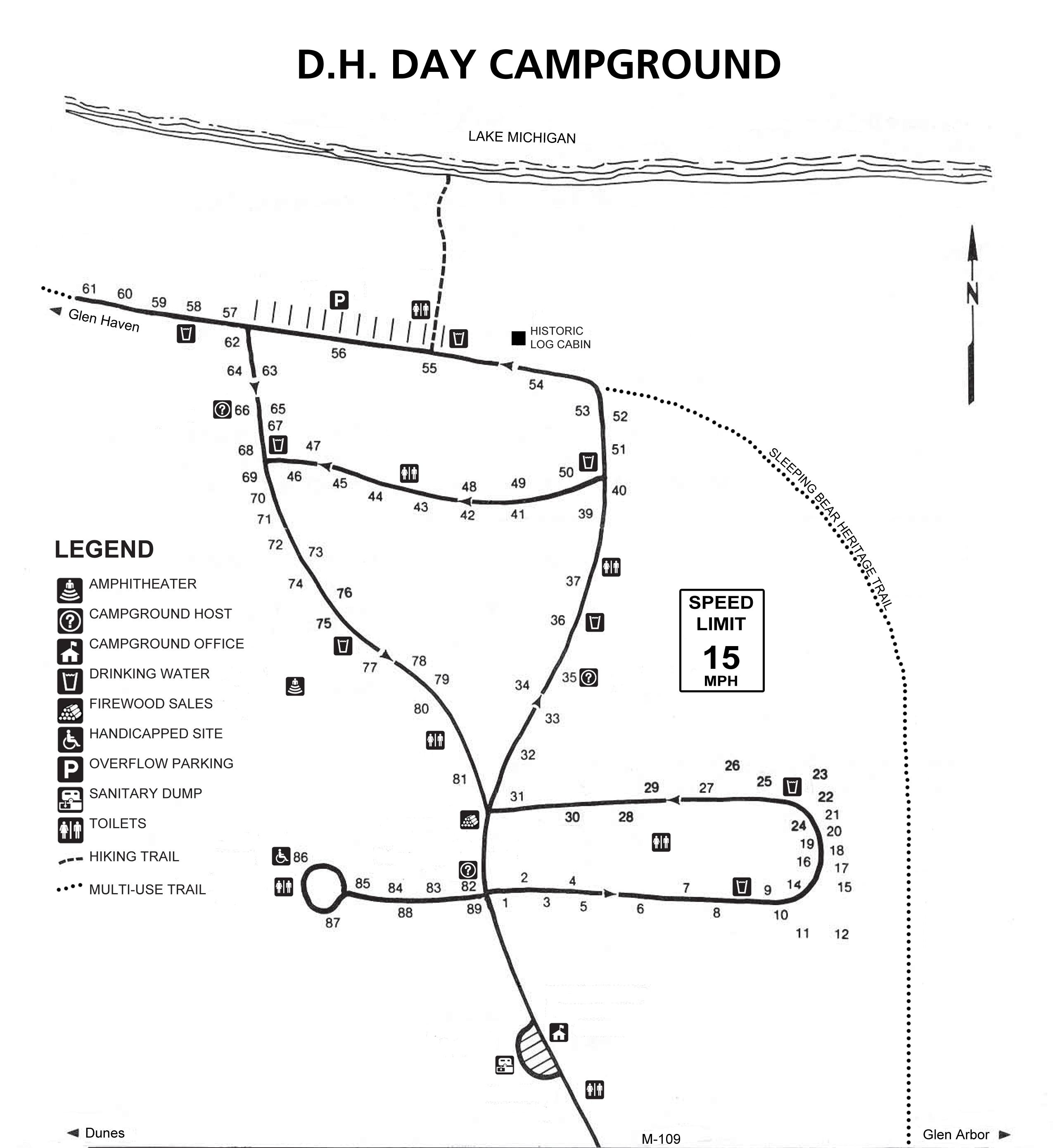 Map of DH Day Campground