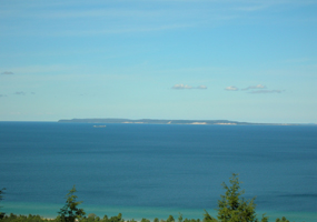 North Manitou Island from Alligator Hill