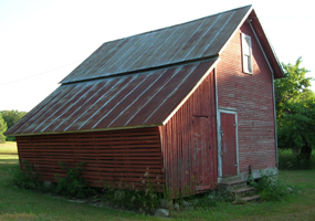 Corn Crib & Granary Combination at Bufka Farm