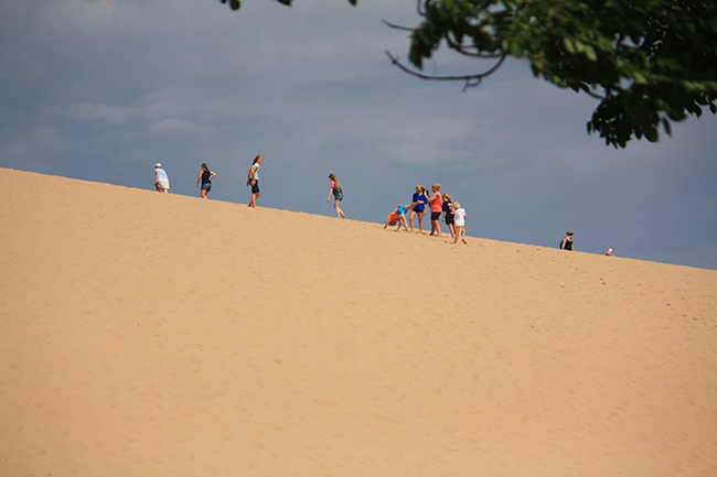 People at the top of the Dune Climb