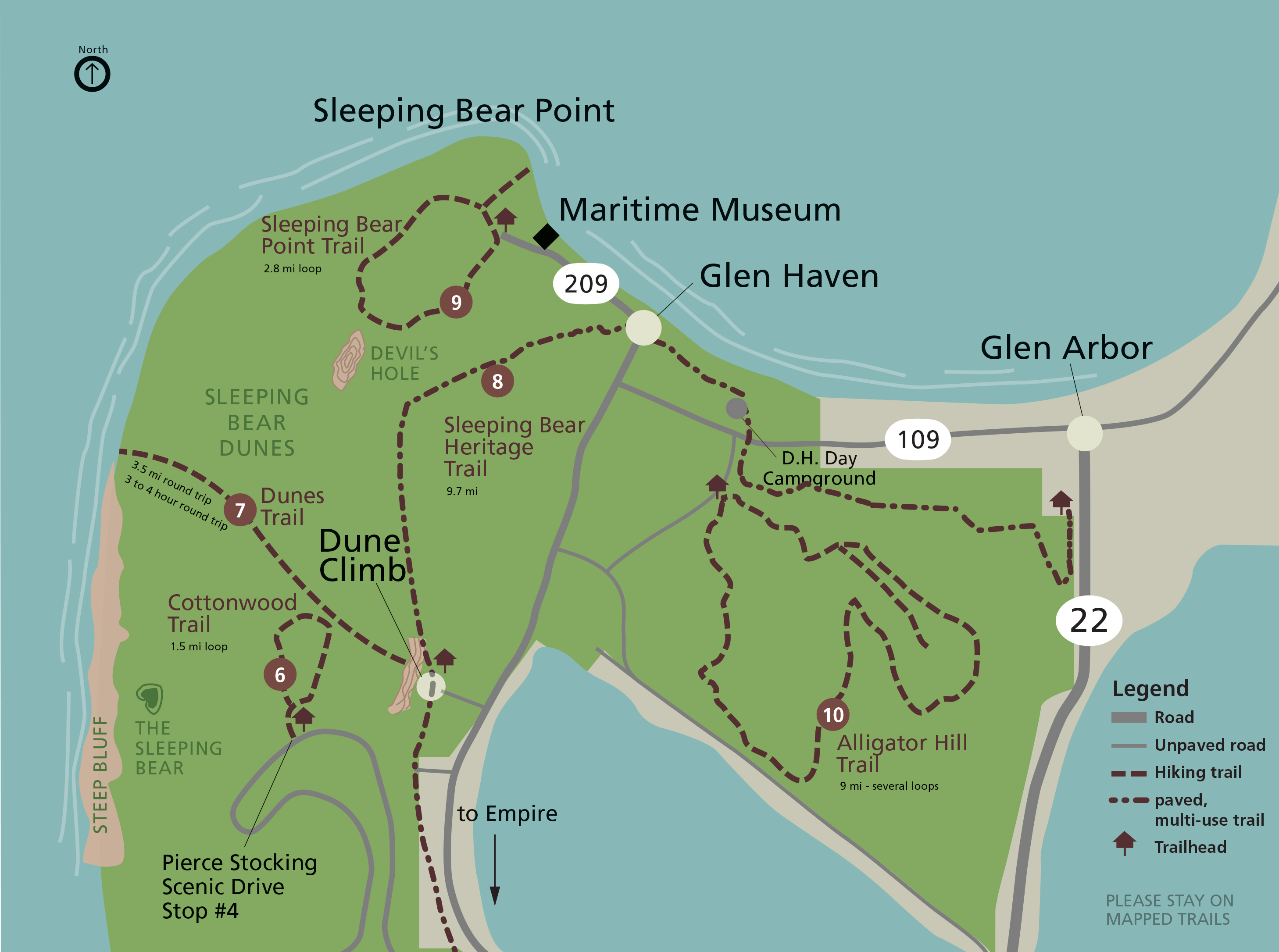 Sleeping Bear Point Trail Sleeping Bear Dunes National Lakeshore - Us trails map