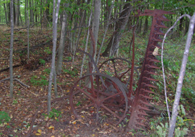 Old Farm Equipment on Empire Bluff Trail