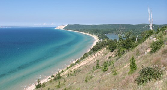 View of Lake MI from Empire Bluff