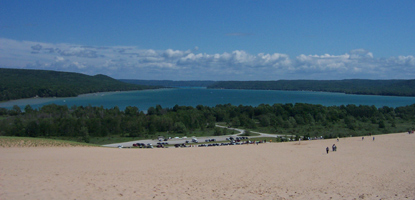 Glen Lake from the top of the Dune Climb