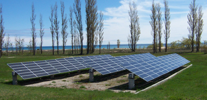 Photovoltaic array on North Manitou Island