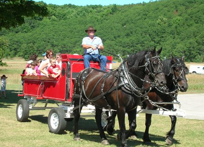 Wagon Ride at Port Oneida Fair 2005
