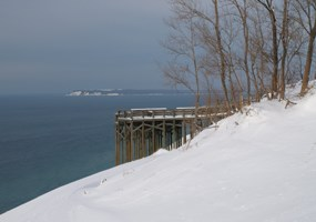 Lake Michigan Overlook in the Winter