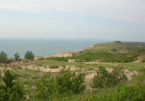 View from Sleeping Bear Dune Overlook