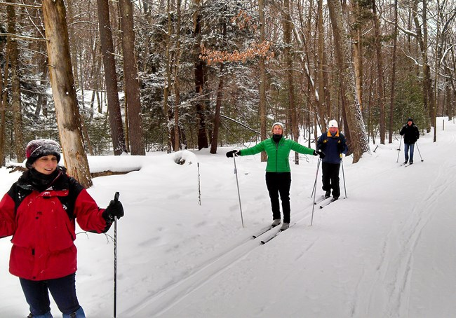 Skiing on the Heritage Trail