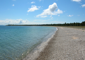 Beach north of Village on South Manitou Island