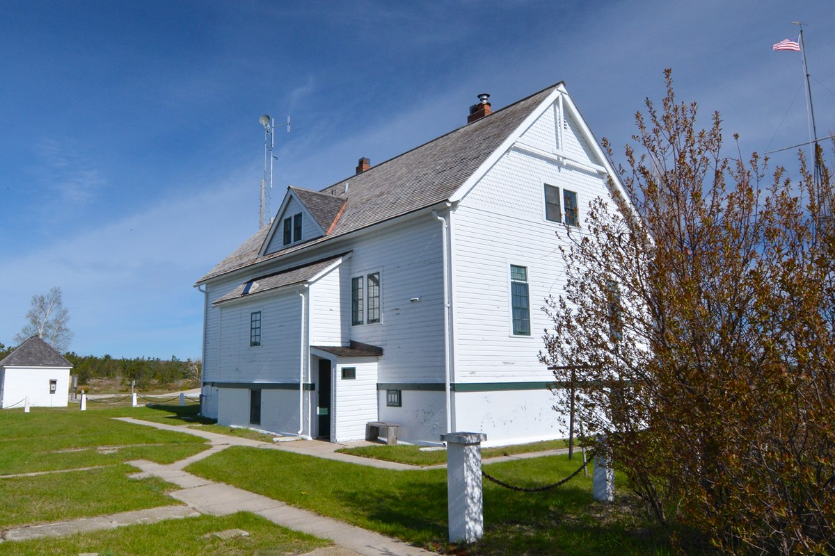 South Manitou Island old coast guard station