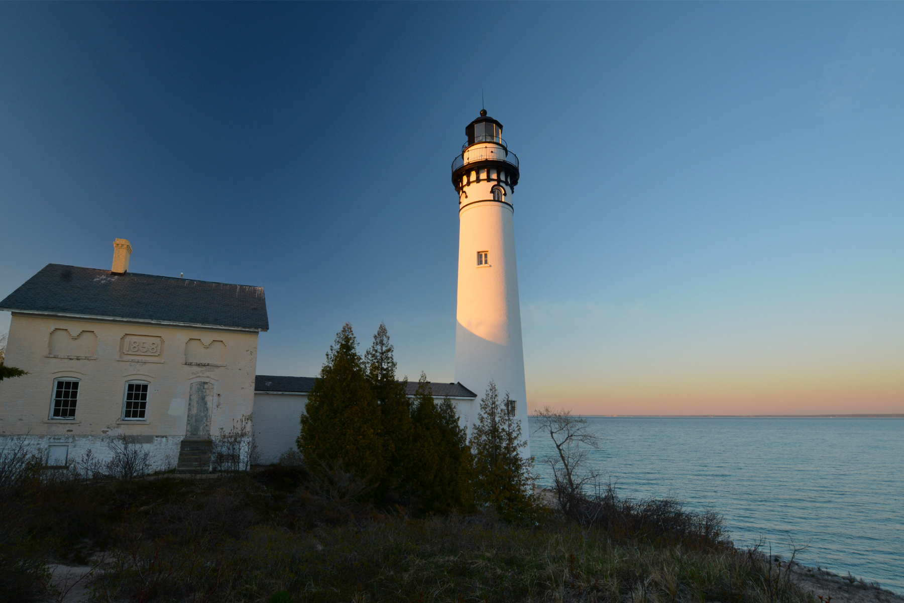 SMI lighthouse in morning light