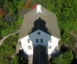 South Manitou Island Lighthouse shadow on Keeper's Dwelling