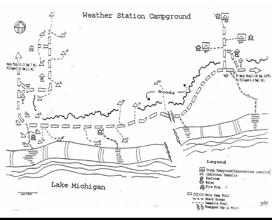 Weather Station Camp Map