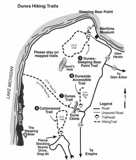 Dunes Trail Map