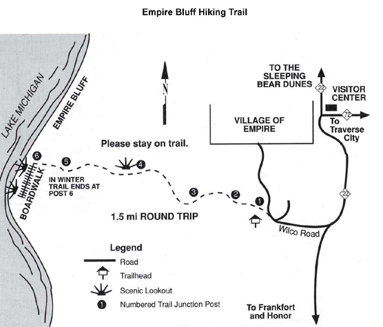Empire Bluff Trail Map
