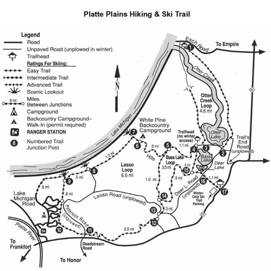 Platte Plains Trail Map