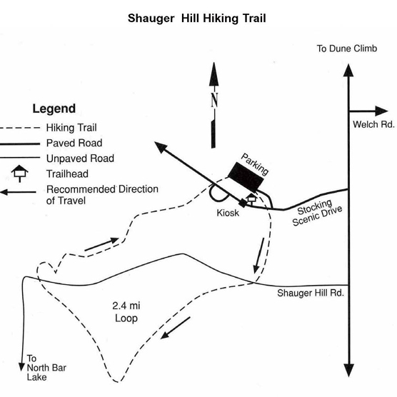 Shauger Hill Trail Map