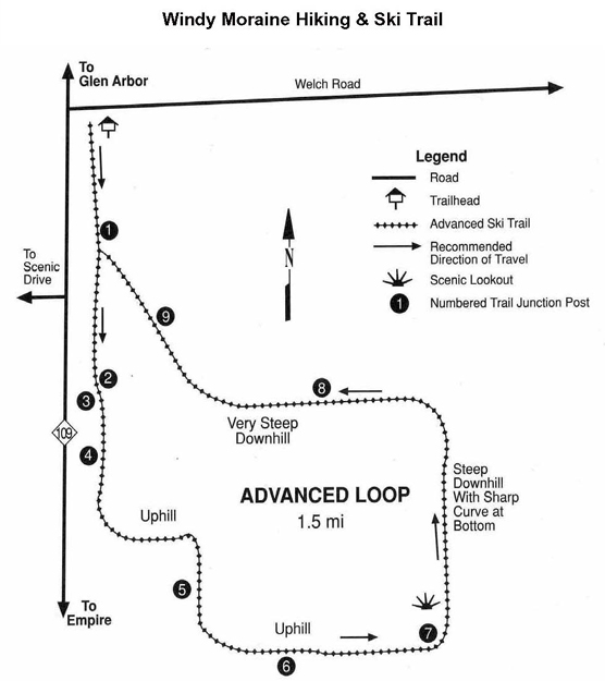 Windy Moraine Trail Map