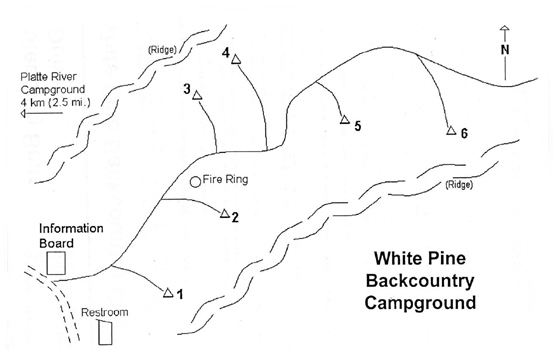White Pines Camp Map