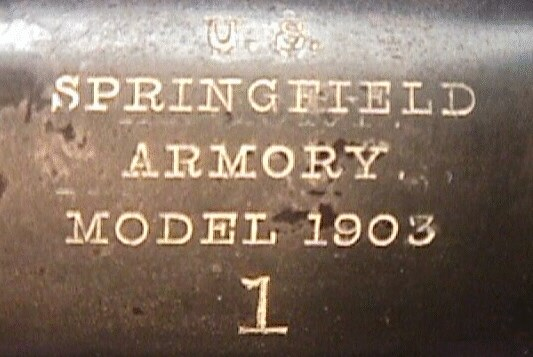 US M1903 rifle #1 markings