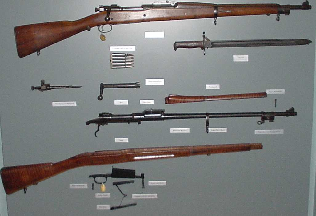 A disassembled M1903 Rifle