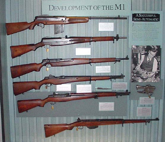 The prototype rifles leading to the M1 Rifle