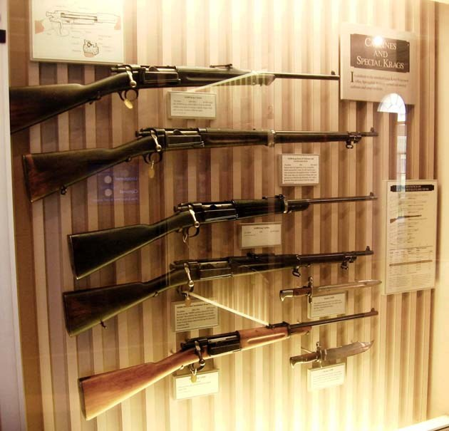 Krag carbines and rare rifles and bayonets