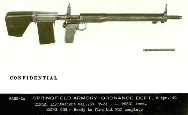 Garand's final rifle design, early 1950s