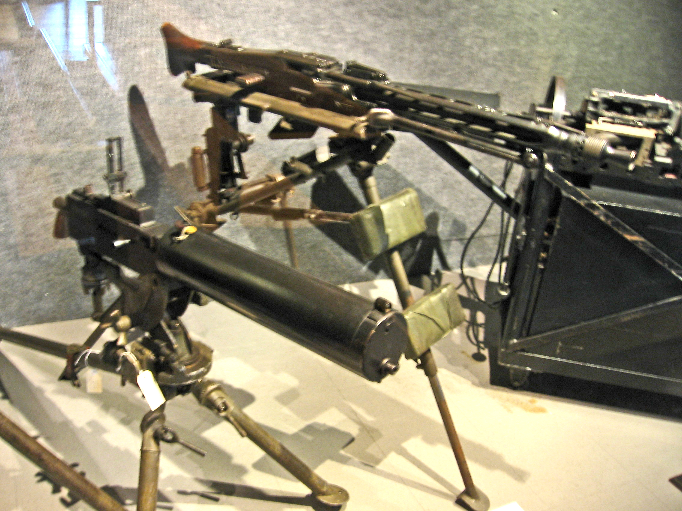 The principle of the machine gun Gatling