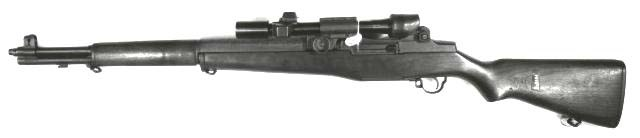 The M1D scoped rifle