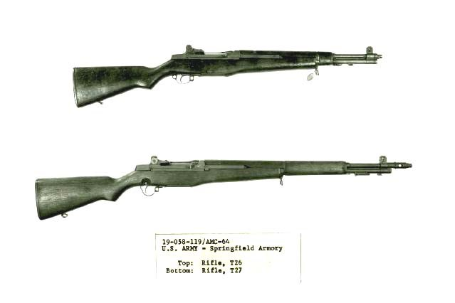 M1 T26 compared to full length experimenatl T27 rifle