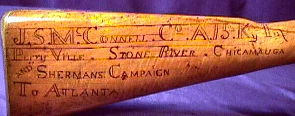 Enscribed Union soldier's rifle musket
