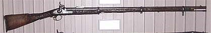 A British Pattern 1853 rifle musket chewed-up by rodents seeking salt.