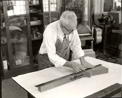 preparing a stock blank for shaping c1960