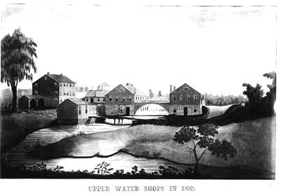 The Upper Water Shops, circa 1830