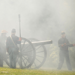 Cannon firing at Armory Day